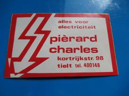 Sticker Elektricitiet Charles Pierard Tielt - Stickers
