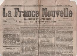 LA FRANCE NOUVELLE 27 06 1873 - LIBRES PENSEURS - SACRE COEUR MONTMARTRE - LYON - TOULON - FOUILLES PARIS - PONT DUNDEE - 1850 - 1899