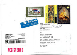 THA002 / THAILAND - EINSCHREIBEN Mit Zollerklärung 2021 - Thailand