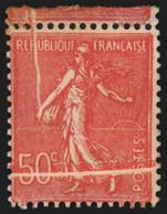 N°199o, Variété Impression Sur Raccord, Semeuse Lignée 50c Rouge, Neuf * - TB - Nuovi