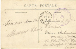 CACHET PARC ARTILLERIE DE LA PLACE DU HAVRE * SERVICE POUDRIERE *SUR CARTE  DE ST VIGOR D'YMONVILLE * 76 * - Guerra Del 1914-18
