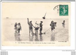 Carte Le Crotoy  Les Enfants Sur La Plage  ( Recto Verso ) - Le Crotoy