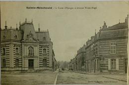 51 / Sainte Menehould (Marne) La Caisse D'Epargne Et Avenue Victor Hugo - Sainte-Menehould