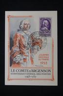 ALGÉRIE - Carte De La Journée Du Timbre De Maison Carrée En 1953 - Carte Maximum Comte D'Argenson -  L 96149 - Covers & Documents