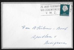 Utrecht: 25 Jaar Federatie Van Ziekenfondsen V.M.Z. - Poststempels/ Marcofilie