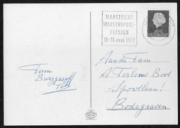 Maastricht: Maastricht Maastropoolfeesten 11-14 Mei 1972 - Poststempels/ Marcofilie