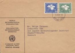 Switzerland WORLD METEOROLOGICAL ORGANIZATION, GENÉVE Nations Unies 1959 Cover Brief CHARLOTTENLUND Denmark - Officials