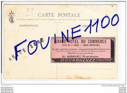 Carte Le Couteau Par Th Botrel Au Dos Pub Du Grand Hôtel Du Commerce Nédelec à DOUARNENEZ - Douarnenez