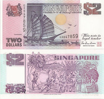 SINGAPORE        2 Dollars        P-28        ND (1992)        UNC - Singapore