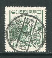 COREE DU SUD- Y&T N°281- Oblitéré (très Belle Oblitération!!!) - Corea Del Sud