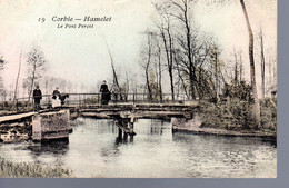 CORBIE  -  Hamelet  -  Le Pont Percot  -  Animation  -  Jolie Carte Colorisée. N°  19 - Corbie
