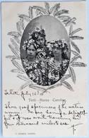 C. P. A. : TAHITI :  Trois Vahinés : Terrii, Maraa, Caroline, Timbre En 1905, RARE - Tahiti