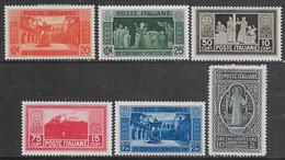 Italia Italy 1929 Regno Montecassino 6val Sa N.262-266,268 Nuovi MH * - Ongebruikt