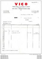 Facture De VICO à VIC SUR AISNE  ( Siège Social à Montigny Lengrain ) 1962 ( Recto Verso ) - 1950 - ...