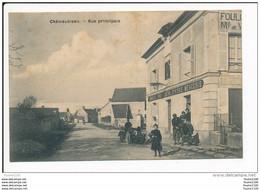 Carte De Châteaubleau  ( Commerce Vins Liqueurs  épicerie Mercerie ) ( Recto Verso ) - Autres Communes