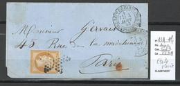 France - Paris - ETOILE PLEINE - 1856 - - 1849-1876: Classic Period