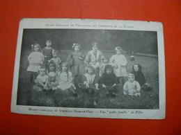 DC 16 / ORPHELINS DE GUERRE MAISON FAMILIALE DE VIROFLAY SEINE ET OISE UNE PETITE FAMILLE DE FILLES  / 2 SCANS - Guerra 1914-18