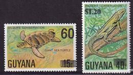 GUYANE - Faune, Tortue, Iguane - Y&T N° 512-514 - MNH - 1978 - Guyana (1966-...)