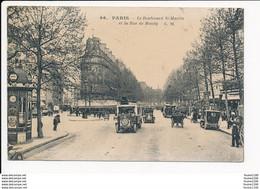 Carte De Paris Le Boulevard Saint Martin Et La Rue Bondy ( Omnibus )   ( Recto Verso ) - Non Classificati