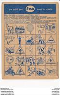 Carte ( Format 14 X 10 Cm ) Un Petit Jeu Pour La Route Publicité Esso   ( Recto Verso ) - Publicités