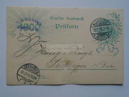 D178443  Deutschland Ganzsache- Cancel 1900  Münster   - Sent To  Säckingen - Hüssy & Künzli - Stamped Stationery