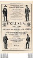 PUB 1881 Tailleur Collin Uniforme Pour Sapeur Pompier Postier Douanier Policier / Appareils Hydrothérapie Walter Lecuyer - 1800 – 1899