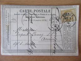 France - Timbre Cérès 15c Sur Précurseur Vers Amiens - Oblitéré CàD Roubaix 1876 - 1849-1876: Klassik