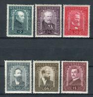 Austria 1932. Yvert 420-25 * MH - Nuevos