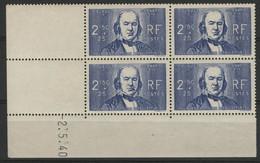 """N° 464 COTE 63 € Coin Daté Du 2/5/40 . """"Claude Bernard"""" Neuf ** (MNH). - 1940-1949"""