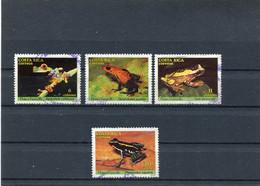 COSTA RICA 1986 FROGS USED/CTO - Costa Rica