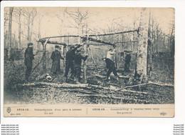 Carte  1914 15 Construction D'un Abri à Niveau Du Sol ( Guerre Militaire )  ( Recto Verso ) - Guerre 1914-18