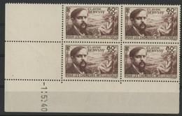 "N° 462 COTE 63 € Coin Daté Du 1/5/40. ""Debussy"" Neuf ** (MNH). TB - 1940-1949"