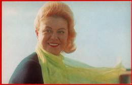 00419 Giulietta Masina Italy Italian Actor Actress Actor Actress Movie Actor Actress Film 1975 USSR Soviet Card - Acteurs