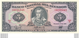 Billet  De Banque équateur  5 Sucres  Banco Central Del Ecuador - Ecuador