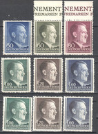 Poland - Generalgouvernement - 1942/44  - Mi 83-88A+B - MNH(**) - General Government