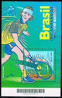Brasilien 2001,Michel# Block 116 O Tennis: Roland Garros Championship - Gustavo Kuerten - Blocks & Kleinbögen
