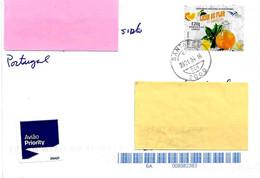 PORTOGALLO - 2021 Lettera Prioritaria Per L'estero Con Francobollo Singolo (E20gr. Gastronomia) - 4123 - Covers & Documents