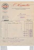 Facture  L' HERMETIC  ( Pâte à Joints Pour Moteurs ) 19 Rue Lucie à SAINT MAUR ( Seine ) - 1900 – 1949