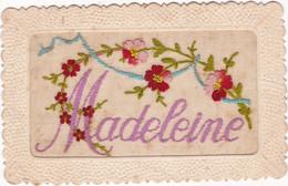 Fantaisie : Brodée : Prénom - MADELEINE : - Embroidered