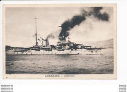 Carte  Du Cuirassé La Lorraine ( Navire De Guerre )( Recto Verso ) - Guerra