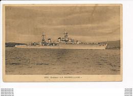 Carte Du Croiseur La Marseillaise Au Dos Tampon 3ème Dépôt Des équipages De La Flotte ( Navire De Guerre )( Recto Verso - Warships