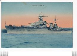 Carte Du Croiseur La  Gloire ( Aucun éditeur )  ( Navire De Guerre )( Recto Verso ) - Guerra