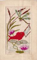 Fantaisie : Brodée : 1er AVRIL - Poisson Et Libellule : - Embroidered