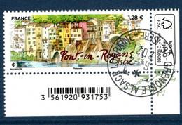 France 2021. De Mini Feuille Pont En Royans.cachet Rond . - Used Stamps