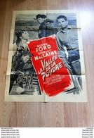 Affiche De Cinéma La Vallée De La Poudre Mgm En Cinémascope Et Metrocolor ( Western ) Glenn Ford Shirley Mac Laine - Posters