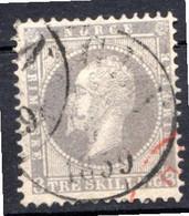 NORVEGE - 1856 - N° 3 - 3 S. Violet-gris - (Oscar 1er, Roi De Suède Et De Norvège) - Gebraucht