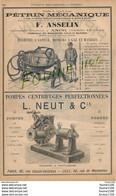 Pub Illustrée Année 1889 Pétrin Mécanique Pour Boulangerie Biscuiterie Asselin à ANOR Pompes L Neut & Cie à LILLE - Publicités