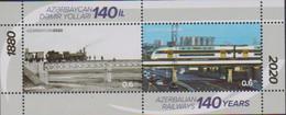 AZERBAIJAN, 2020, MNH, TRAINS, AZERBAIJAN RAILWAYS, BRIDGES, 1v - Muziek