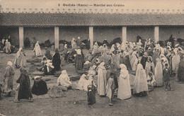 OUDJDA (OUJDA Maroc) - Marché Aux Grains - Cpa  Animée - état Neuf - Petit Prix - Otros