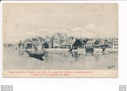 Carte De Nyon En 1854 D' Après Une Toile Du Peintre H. Collins - VD Vaud